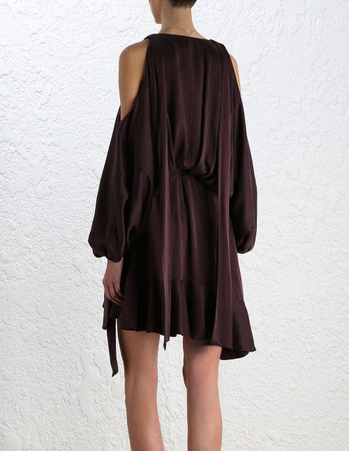 Zimmermann Sueded Billow Dress Burgundy - Call Me The Breeze - 4
