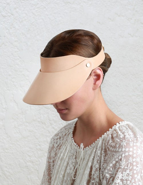 Zimmermann Leather Visor Natural Tan - Call Me The Breeze - 2