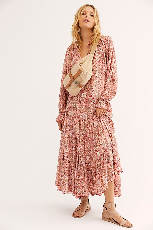 Free People Feeling Groovy Maxi Red
