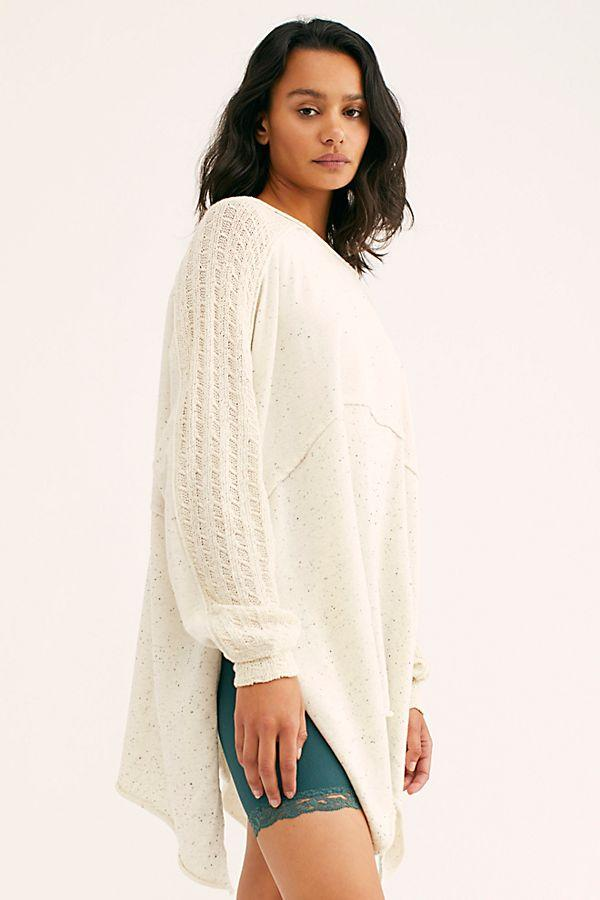 Free People My Girl Pullover Ivory