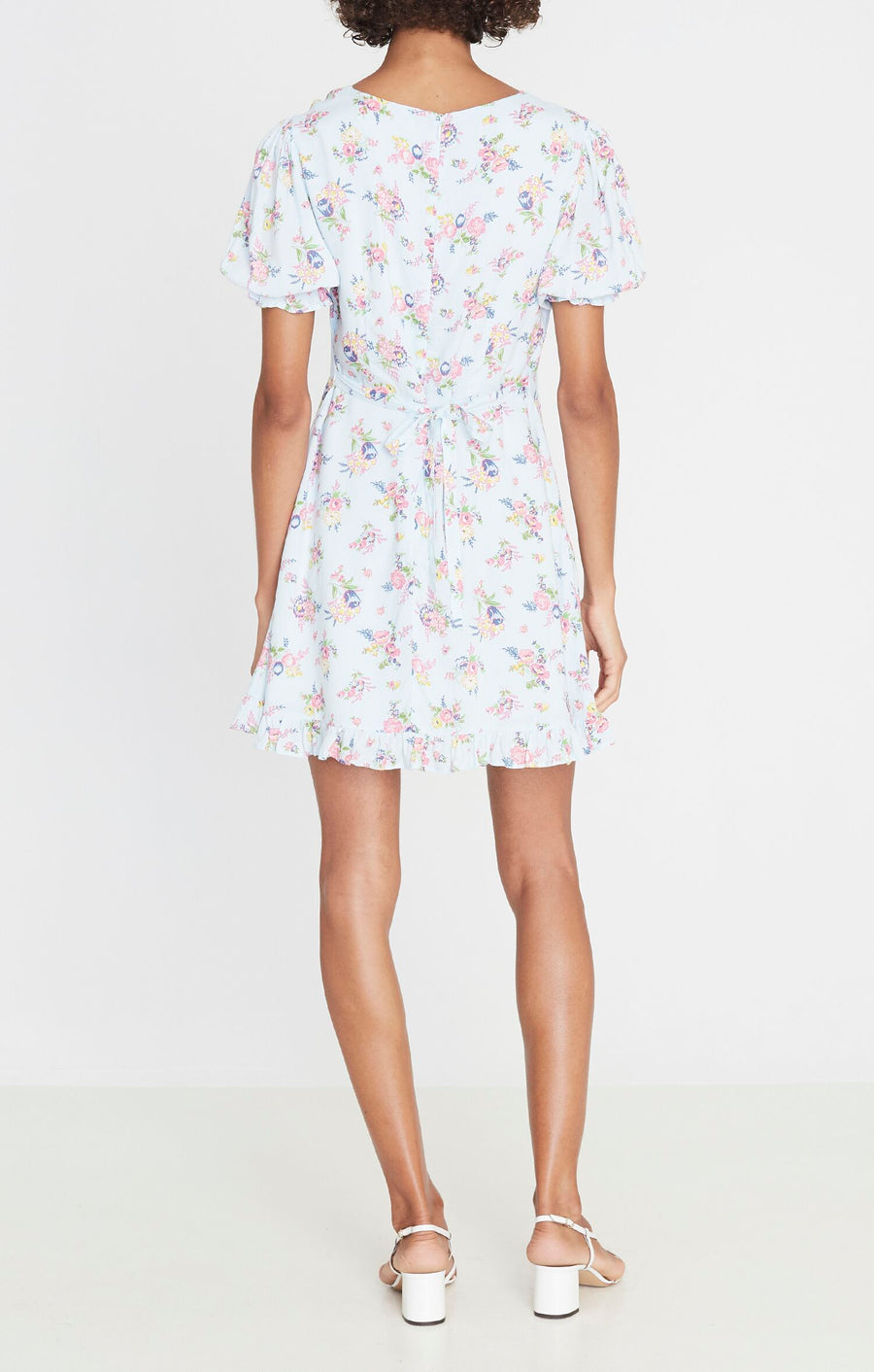 Faithfull Florence Mini Dress Juliette Floral Print Blue