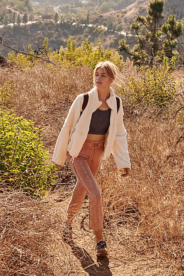 Free People Solid Wild Side Flare Leg Terracotta