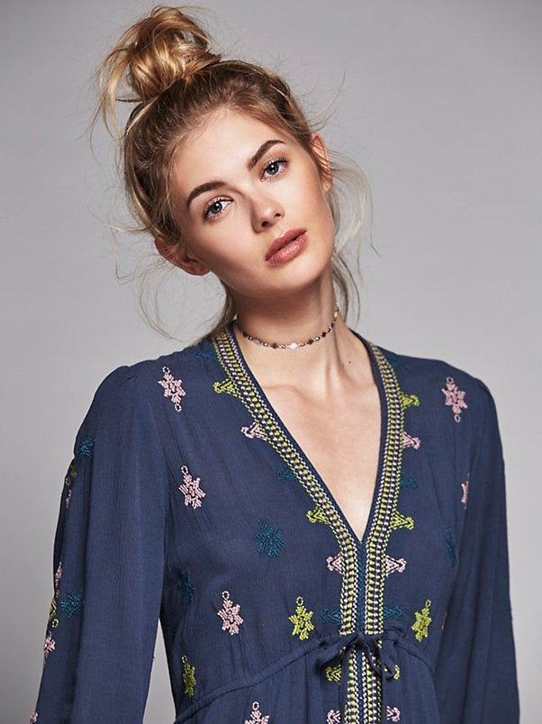 Free People Stargazer Dress Blue - Call Me The Breeze - 3
