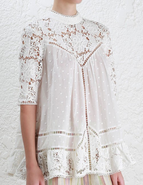 Zimmermann caravan Embroidered Smock Top - Call Me The Breeze - 7