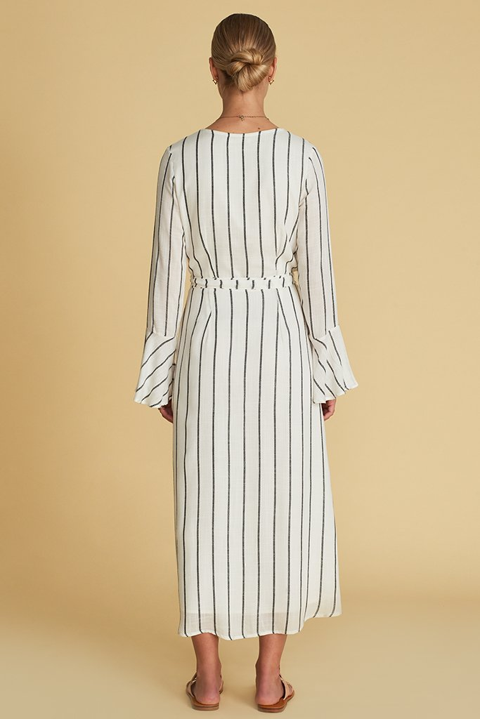 Sancia Solene Wrap Dress Stripe