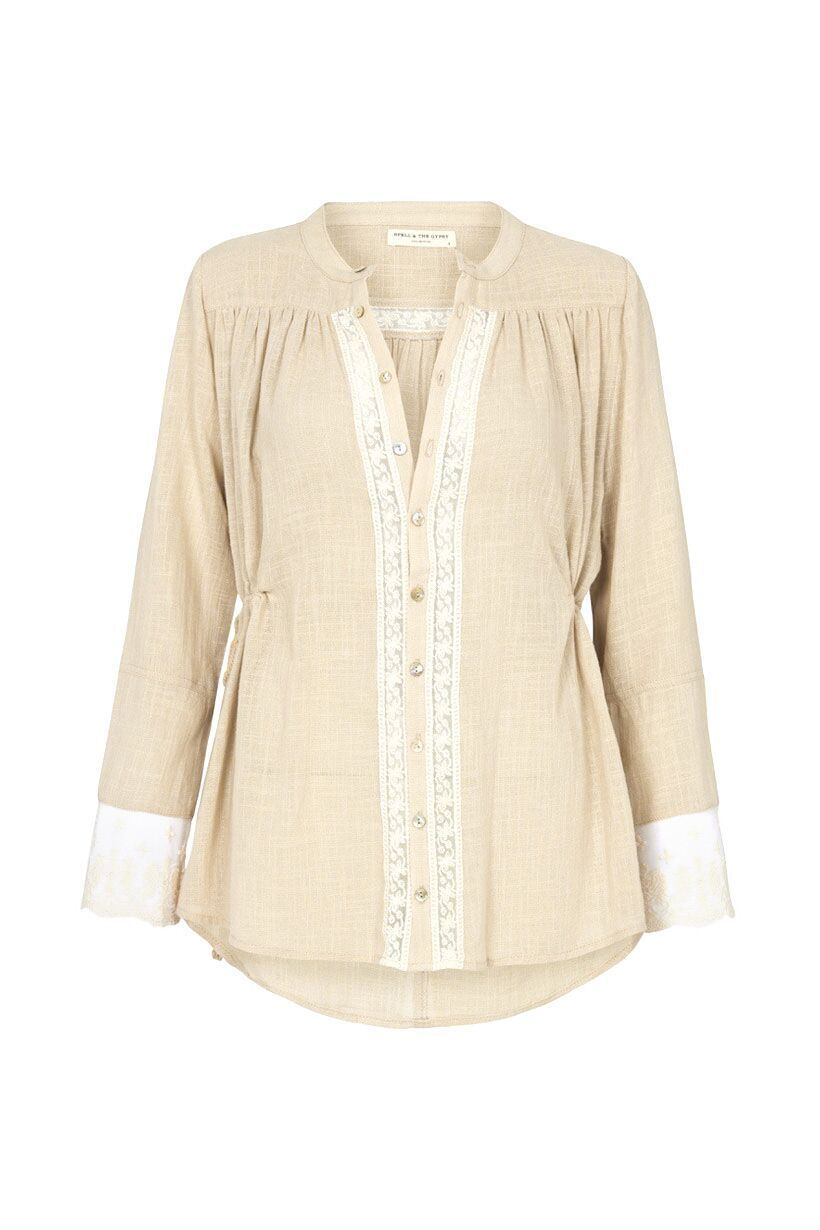 Spell Paloma Blouse Neutral