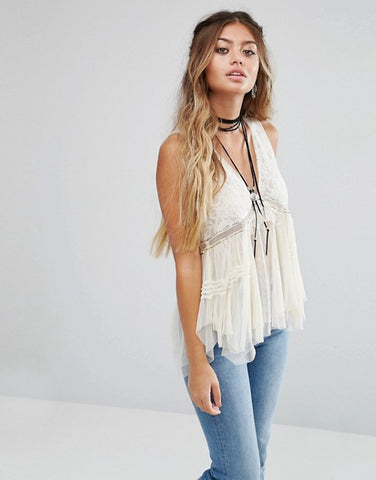 Free People On The Town Tank Cream - Call Me The Breeze - 1