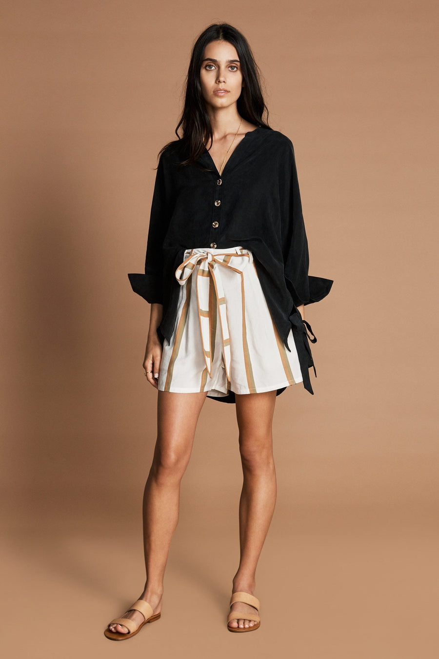 Sancia Sabienne Boyfriend Shirt Black