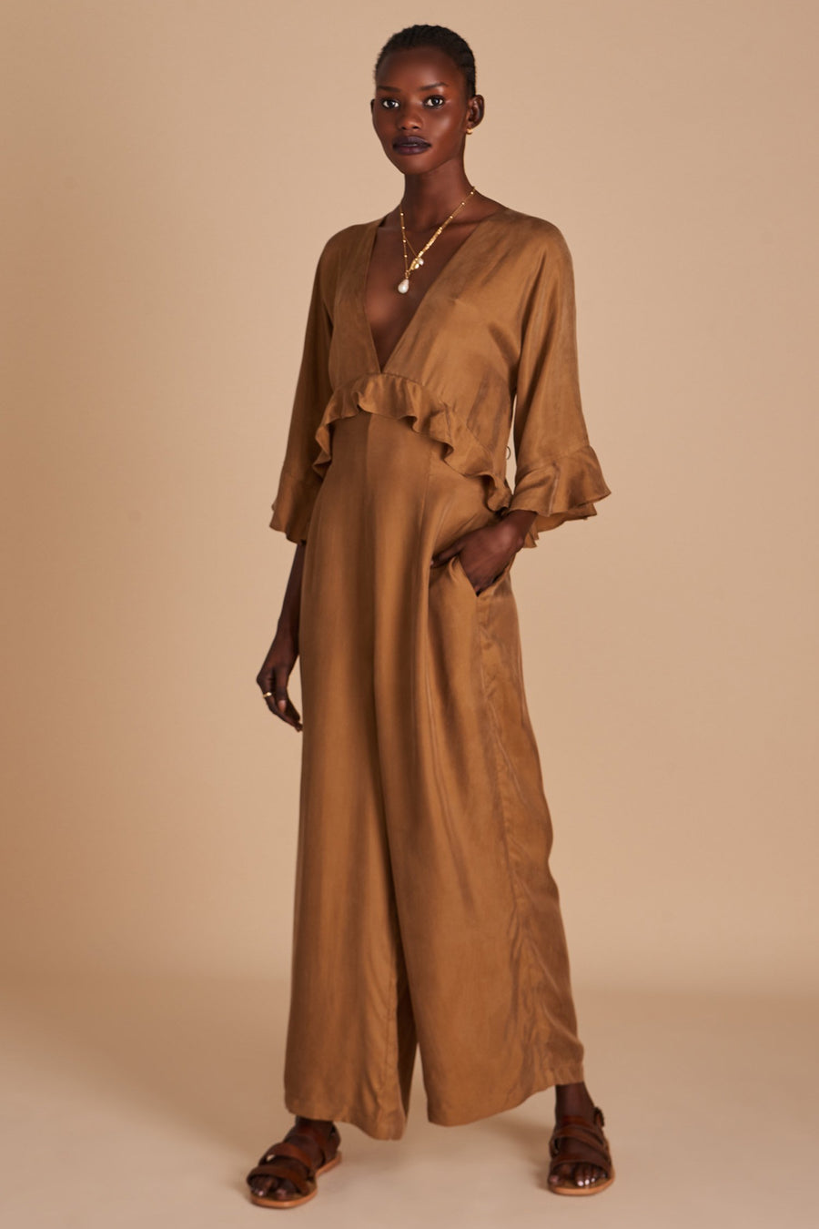 Sancia The Yolande Jumpsuit Cocoa