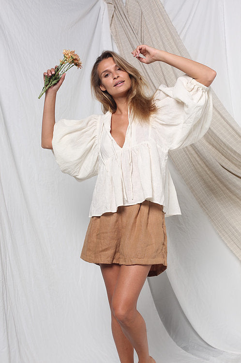 Opia Clover Blouse Off White
