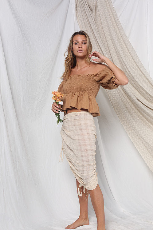 Opia Rumi Crop Taupe