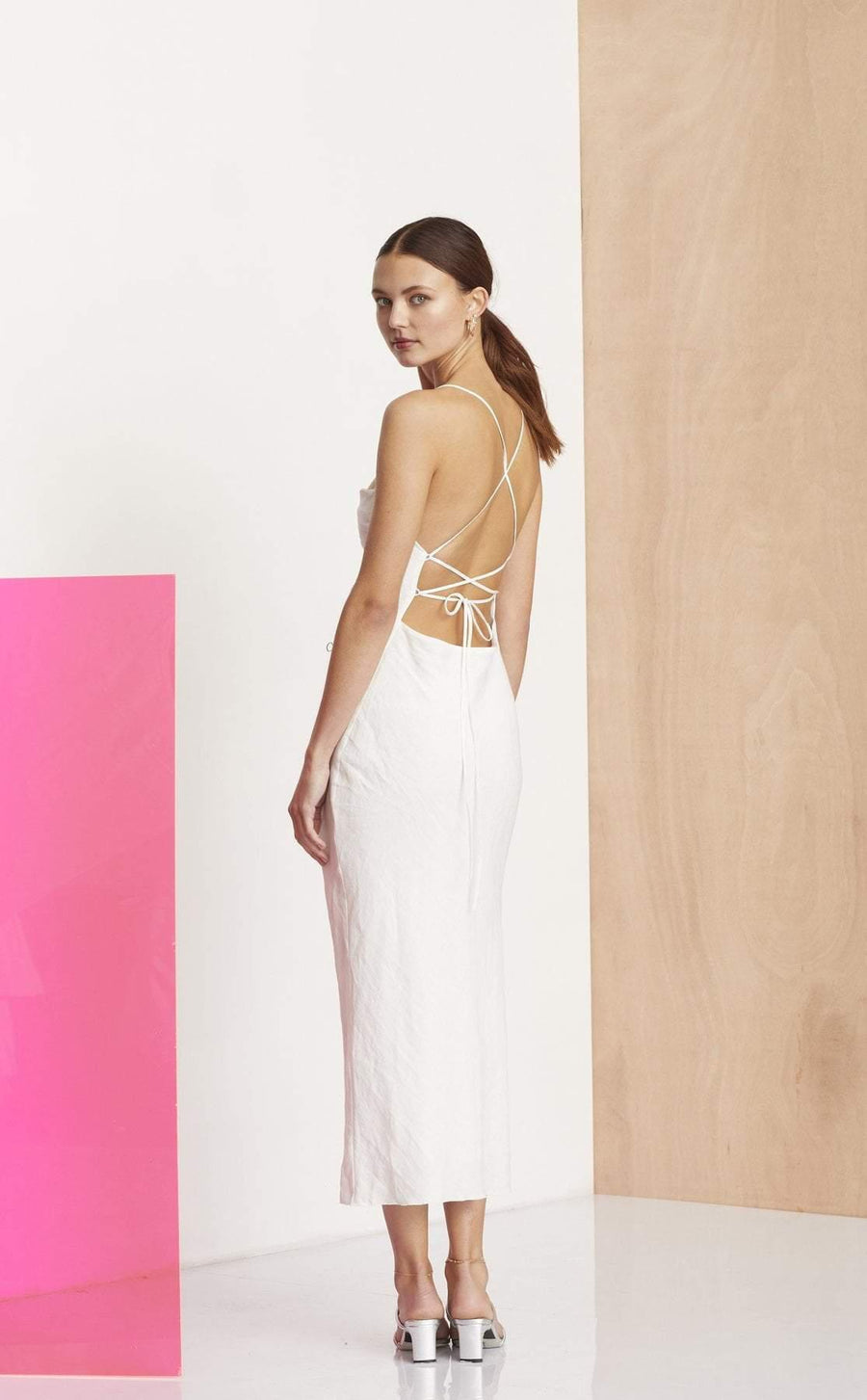 Bec and Bridge The Dreamer Midi Dress Ivory