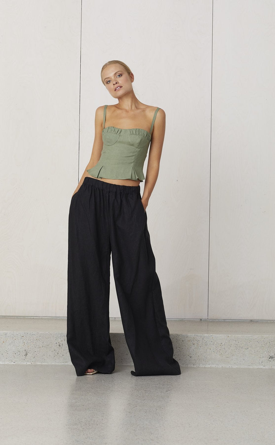 Bec and Bridge Naturel Elastic Pant Black