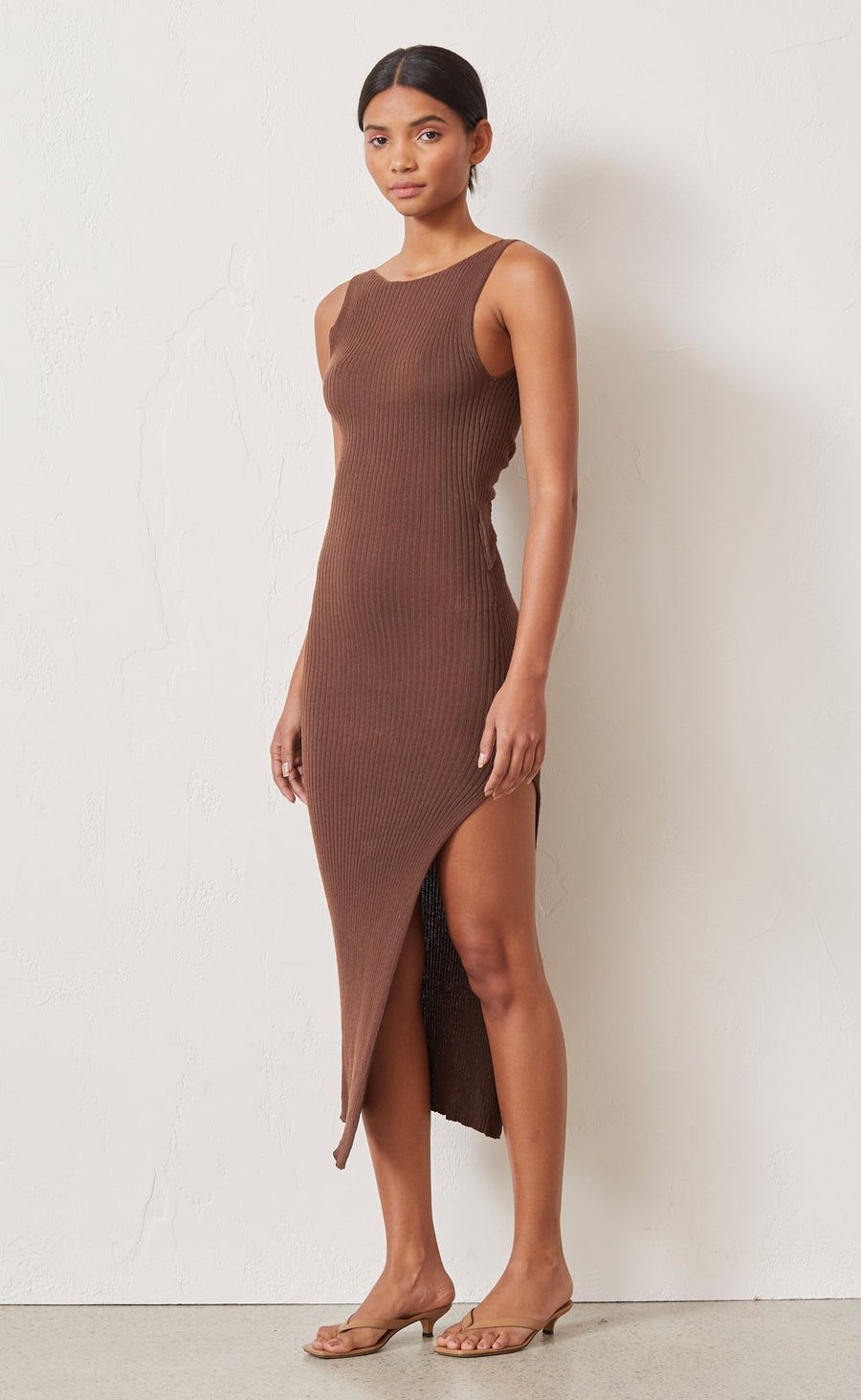 Bec and Bridge Riviera Knit Midi Dress Cedar
