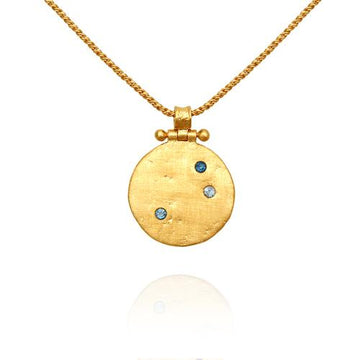 Temple Of The Sun Agni Necklace Gold
