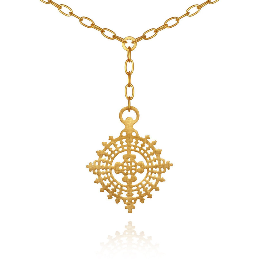 Temple Of The Sun Anki Necklace Gold