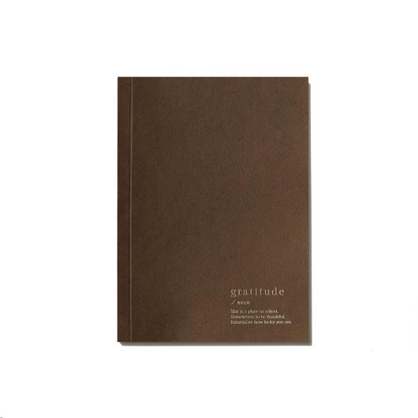 An Organised Life Gratitude Lined Notebook Brown