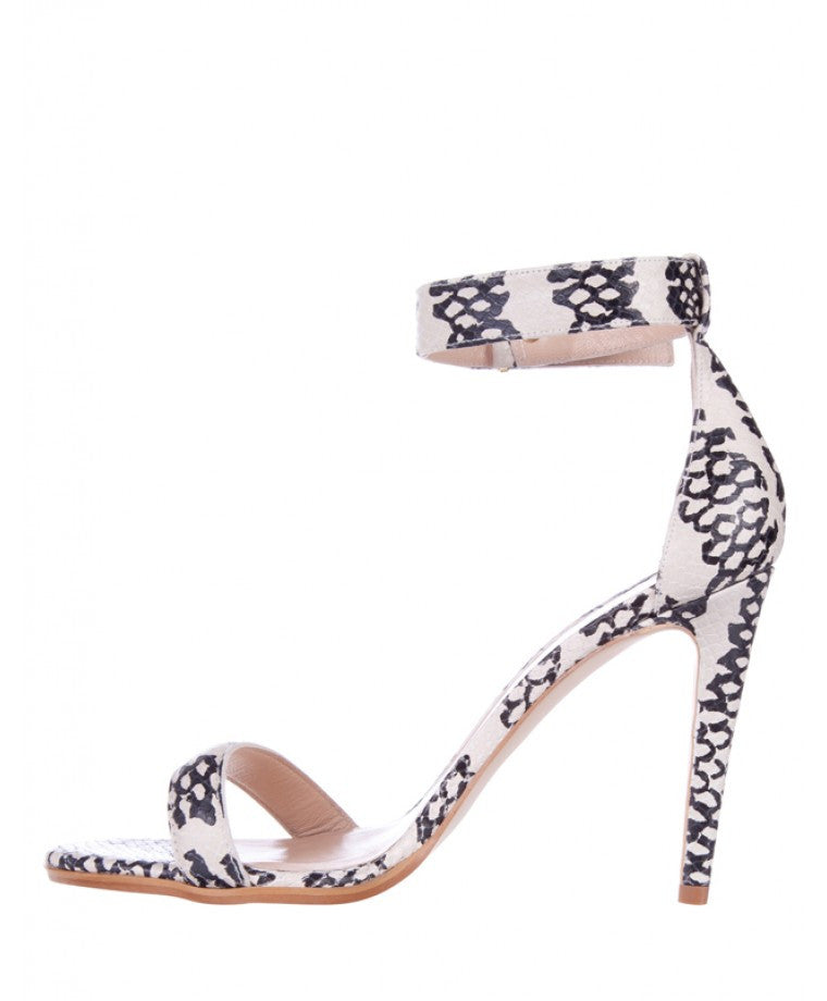 Mode Collective Ankle Strap Sandal Monochrome Lizard - Call Me The Breeze