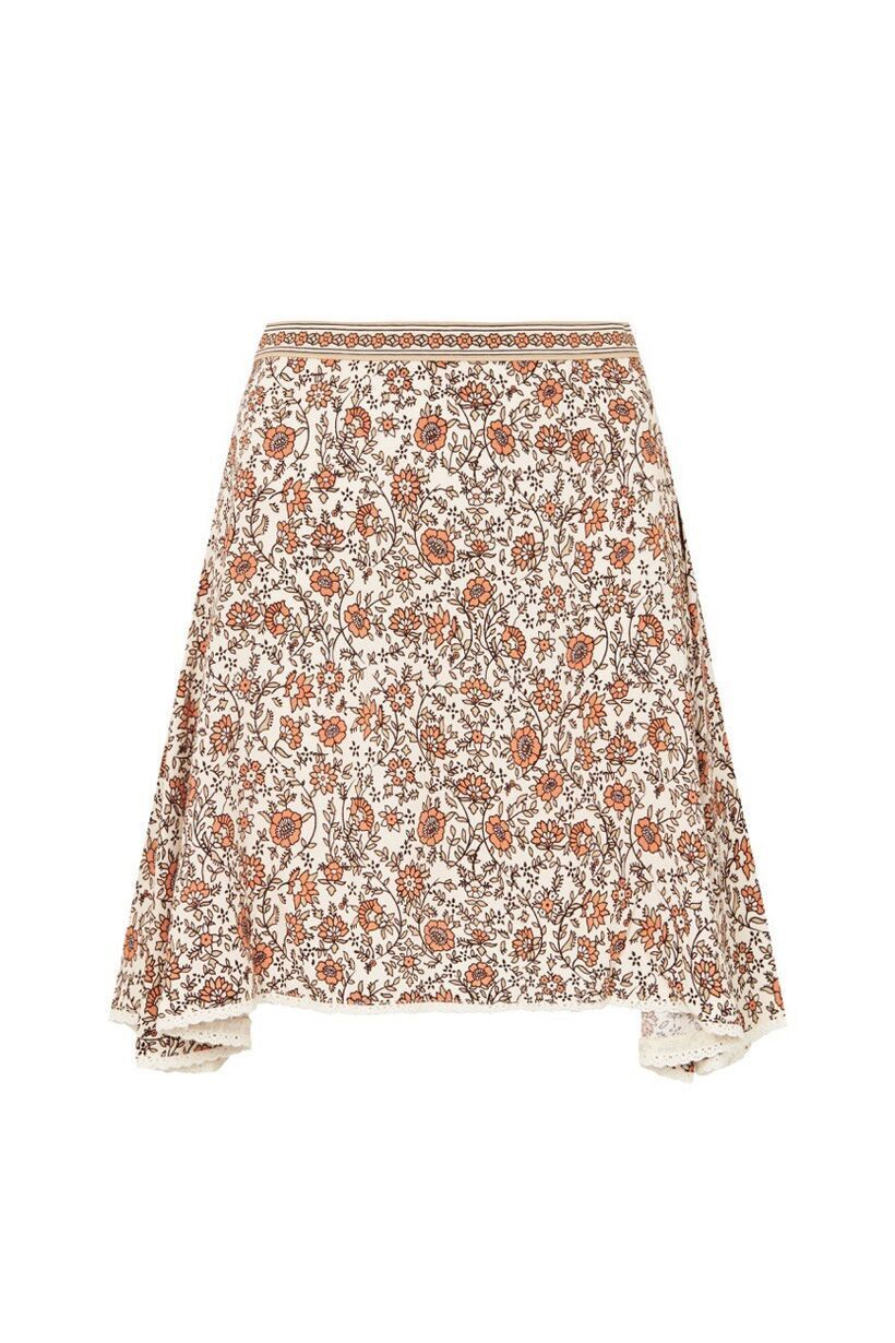 Spell Jasmine Mini Skirt Cream