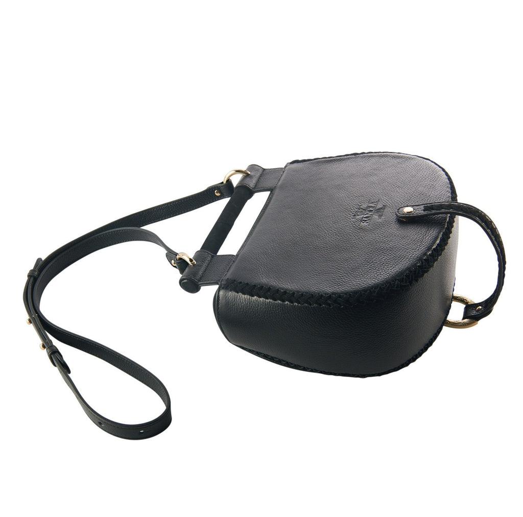Sancia Babylon Bar Bag Nubuck Black
