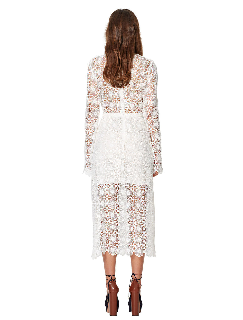 Bec and Bridge Daisy Chain Long Sleeve Dress Ivory - Call Me The Breeze