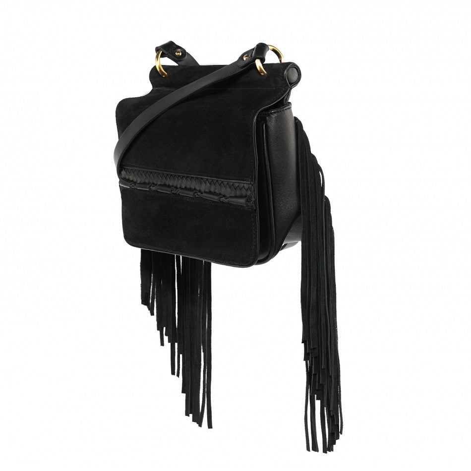 Sancia Brigette Fringe Bag Black - Call Me The Breeze - 4