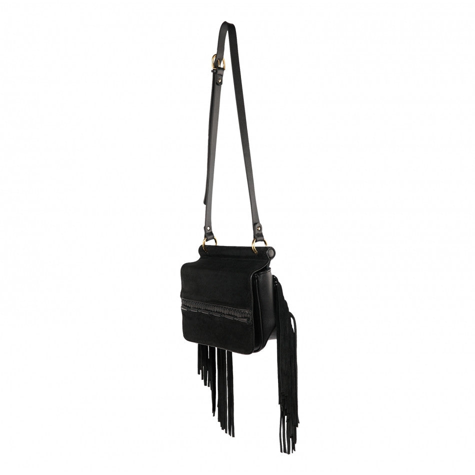 Sancia Brigette Fringe Bag Black - Call Me The Breeze - 3