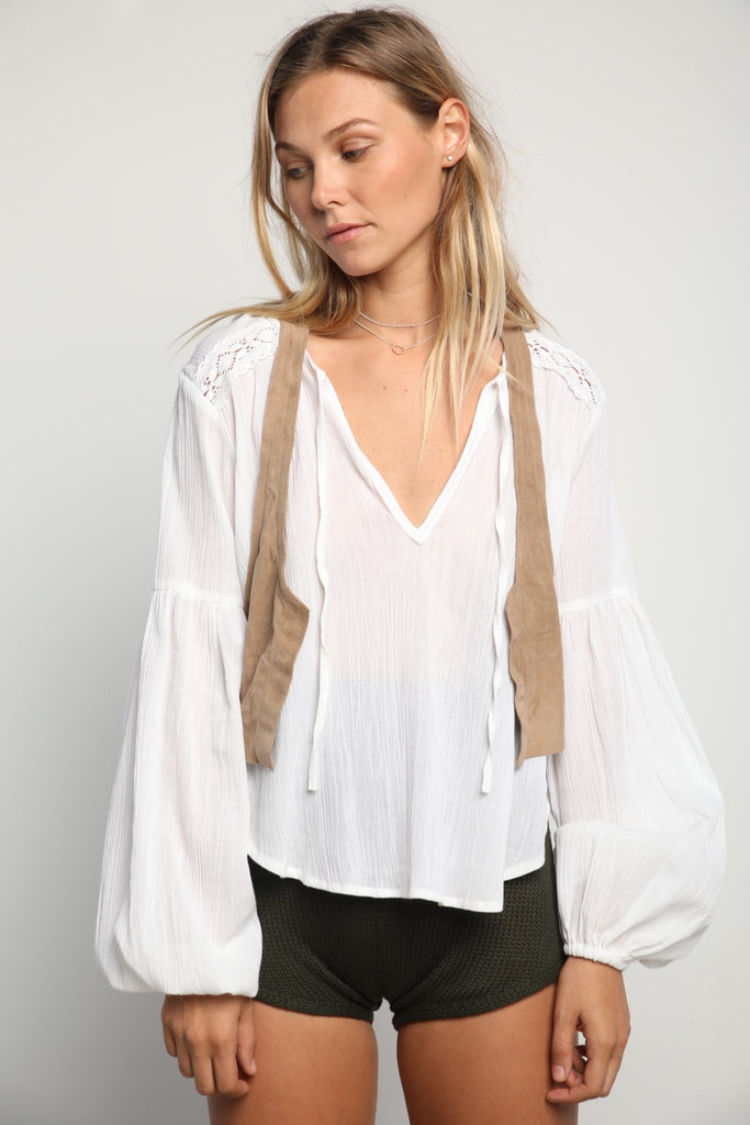 Lilya Taylor Top White