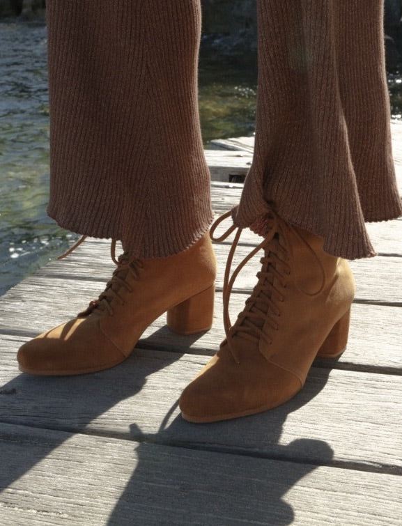 Lulu Suede Boots Whiskey