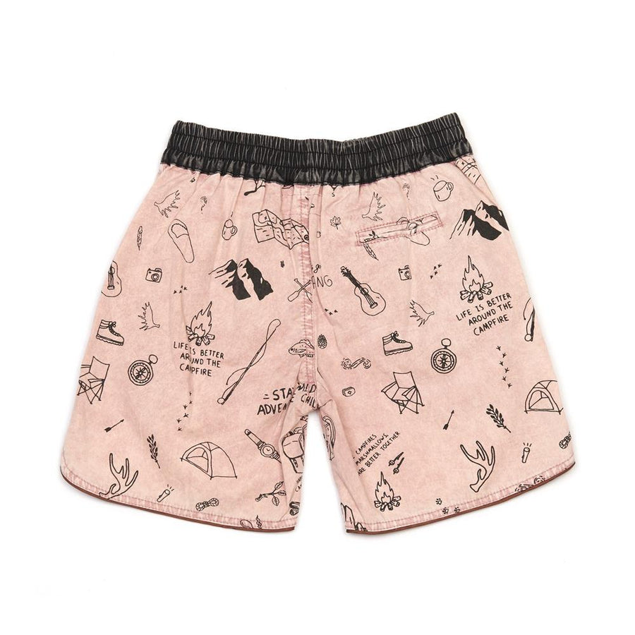Children Of The Tribe Campground Drawstring Shorts