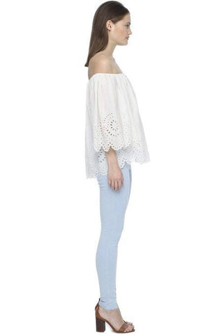 Magali Pascal Camelia Top Dusty White // PREORDER