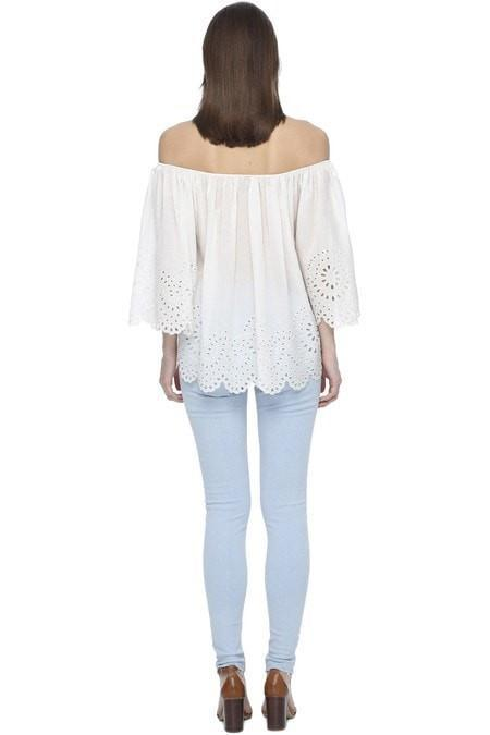 Magali Pascal Camelia Top Dusty White