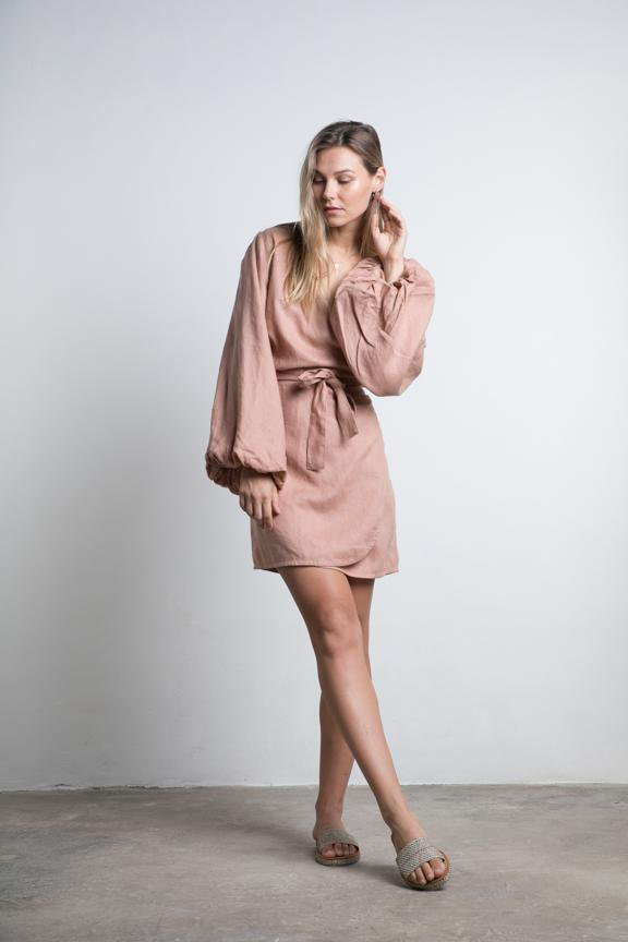 Lilya Cedar Wrap Dress Dusty Rose