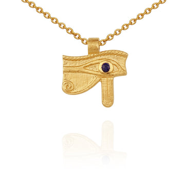 Temple Of The Sun Eye Of Horus Necklace Gold
