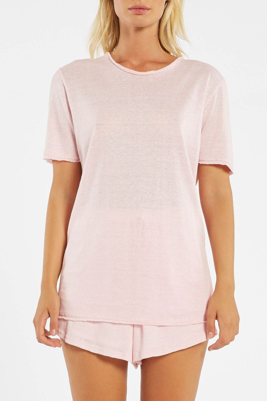 Zulu and Zephyr Cove Tee Powder Pink