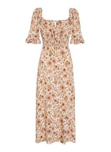 Faithfull El Paso Midi Dress Wiley Floral Print