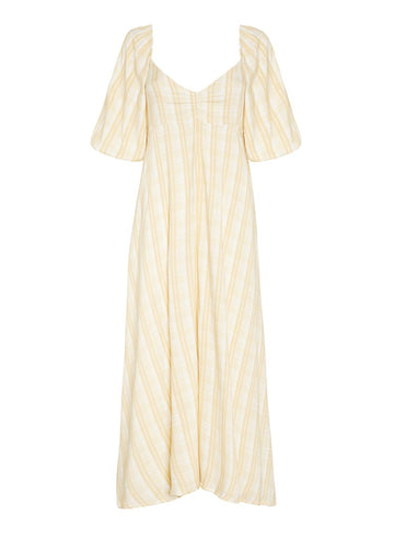 Faithfull Imanie Midi Dress Hamptons Check Print