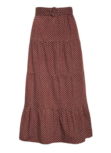 Faithfull Farida Midi Skirt Bonnie Dot Print
