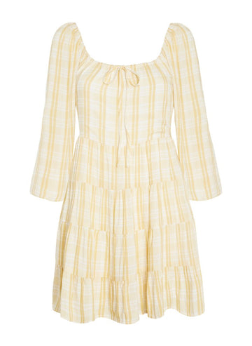 Faithfull Naline Mini Dress Hamptons Check Print
