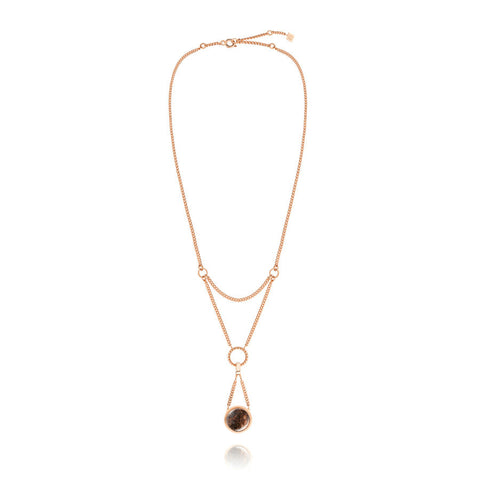 F + H Liza Necklace Rose Gold - Call Me The Breeze
