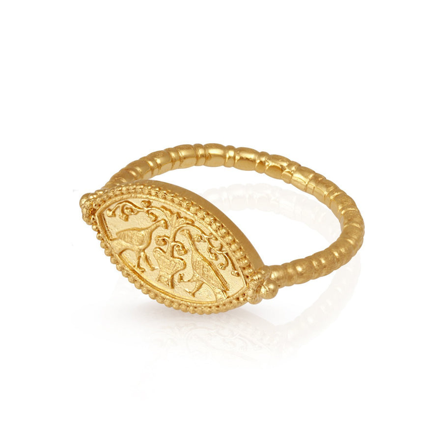 Temple Of The Sun Gaia Ring Gold