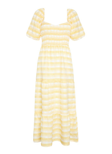 Faithfull Gianna Midi Dress Ligne Check