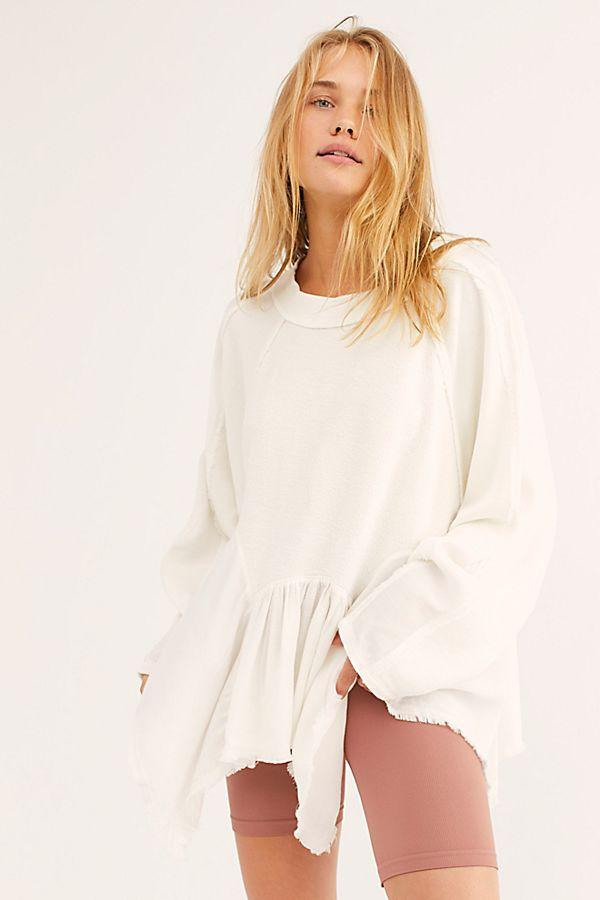 Free People Gold Duster Pullover Ivory