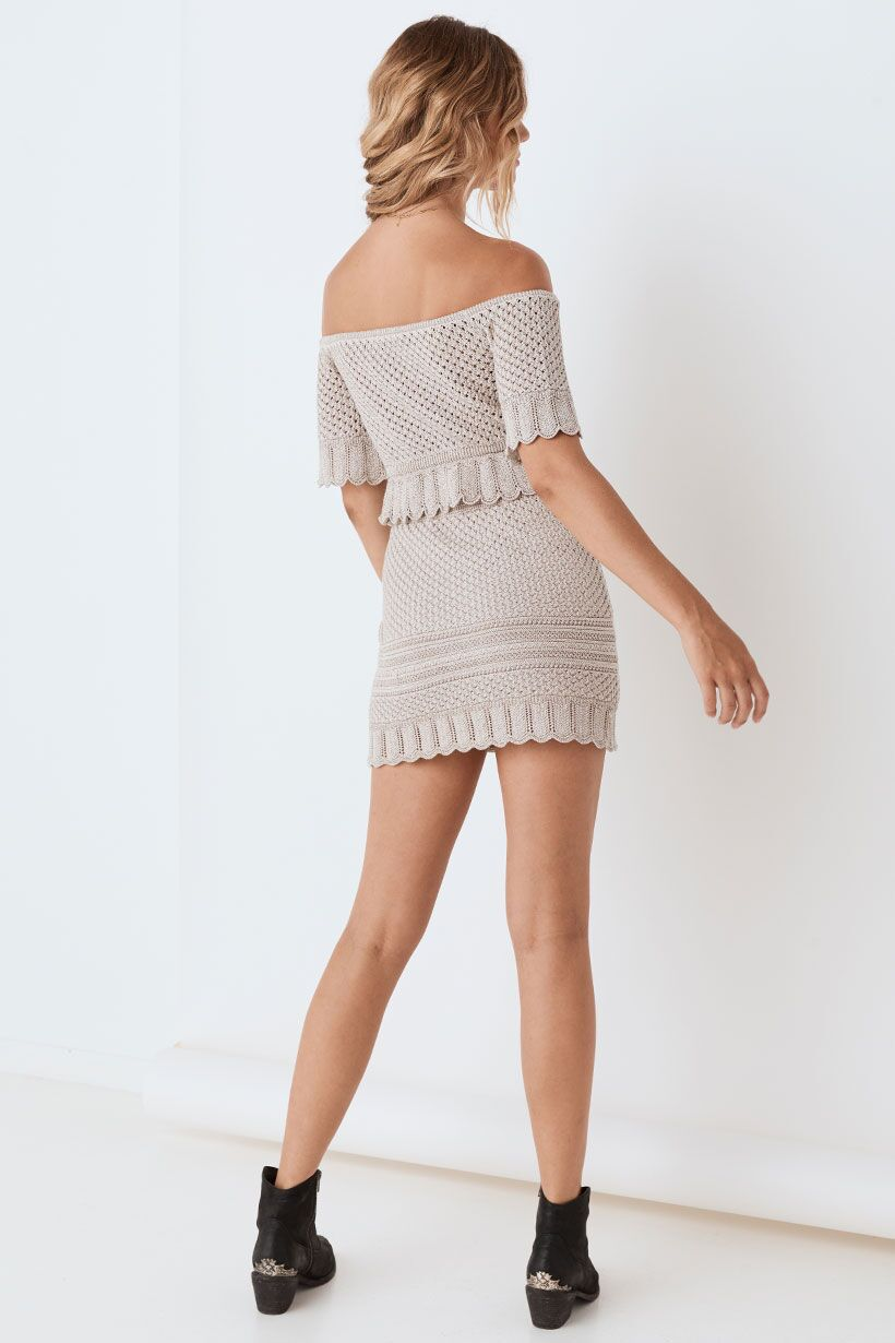 Spell Atlantic Crochet Mini Skirt Shell