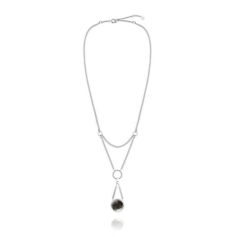 F + H Liza Necklace Silver - Call Me The Breeze