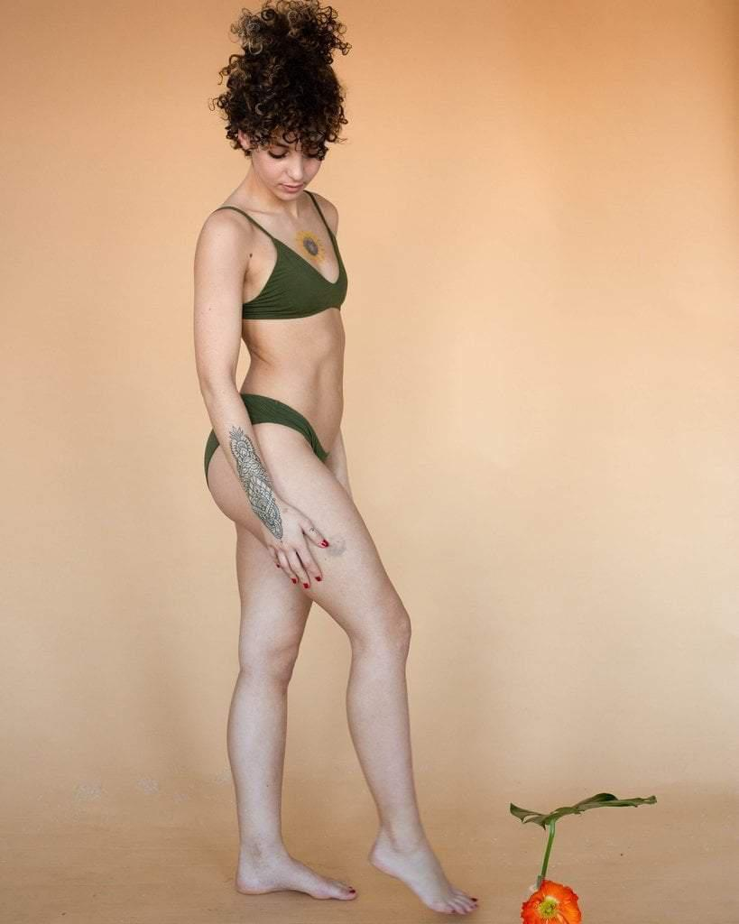 Hara Stella Low Cut Bra Olive