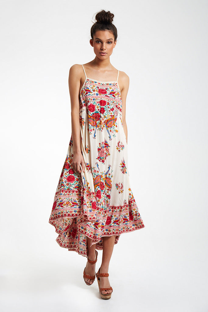 Spell Hotel Paradiso Strappy Maxi Dress Pearl - Call Me The Breeze - 2