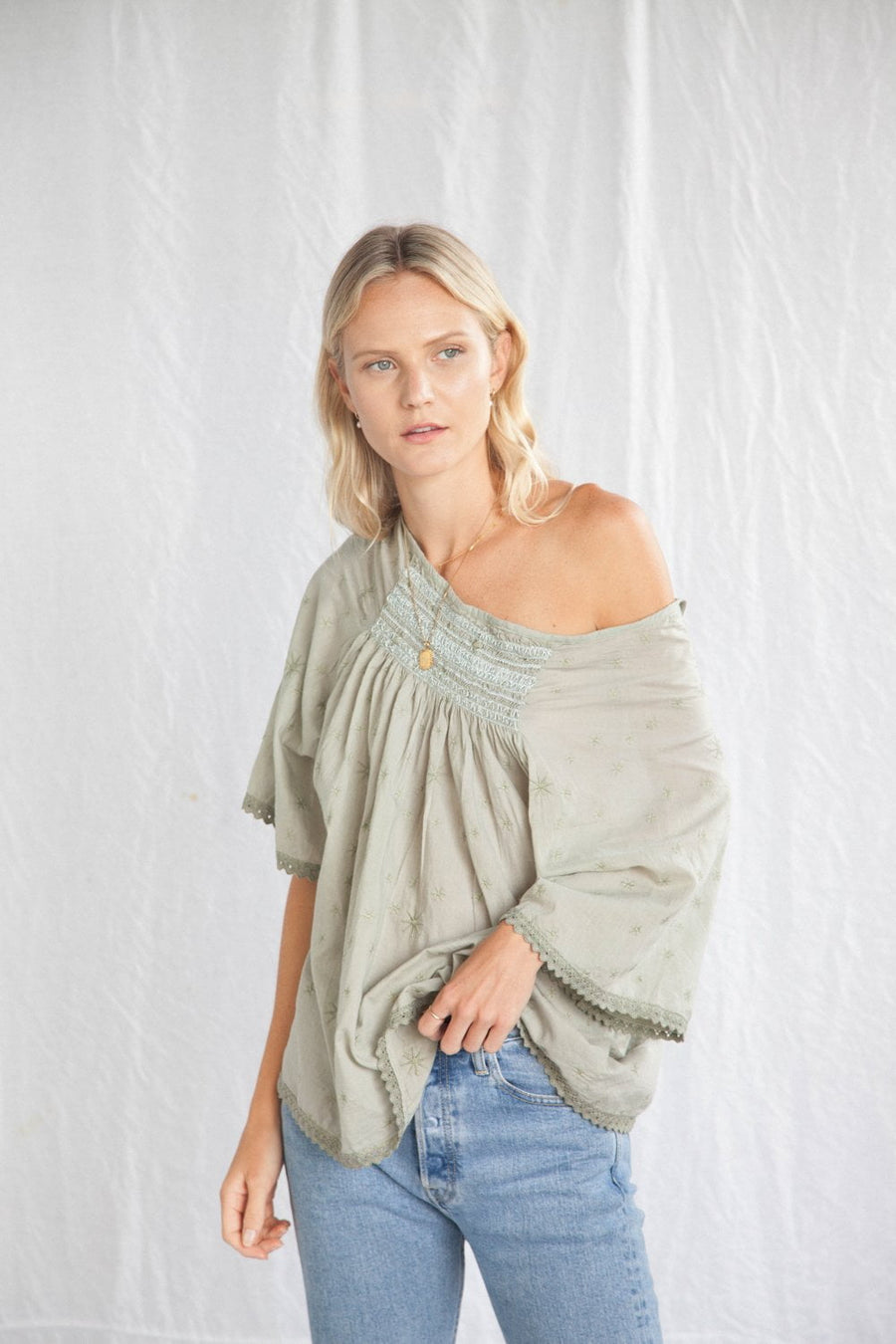 Kinga Csilla The Stella Blouse Soft Green