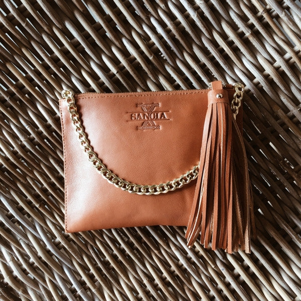 Sancia The Mia Clutch W Chain Whiskey - Call Me The Breeze - 2
