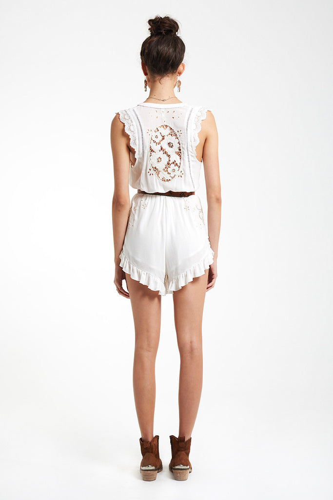 Spell Isla Bonita Embroidered Romper White - Call Me The Breeze - 6
